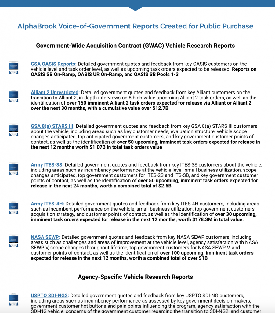 AlphaBrook Public Reports Page  Please note:  These reports are developed separate and outside of our private client subscriptions.