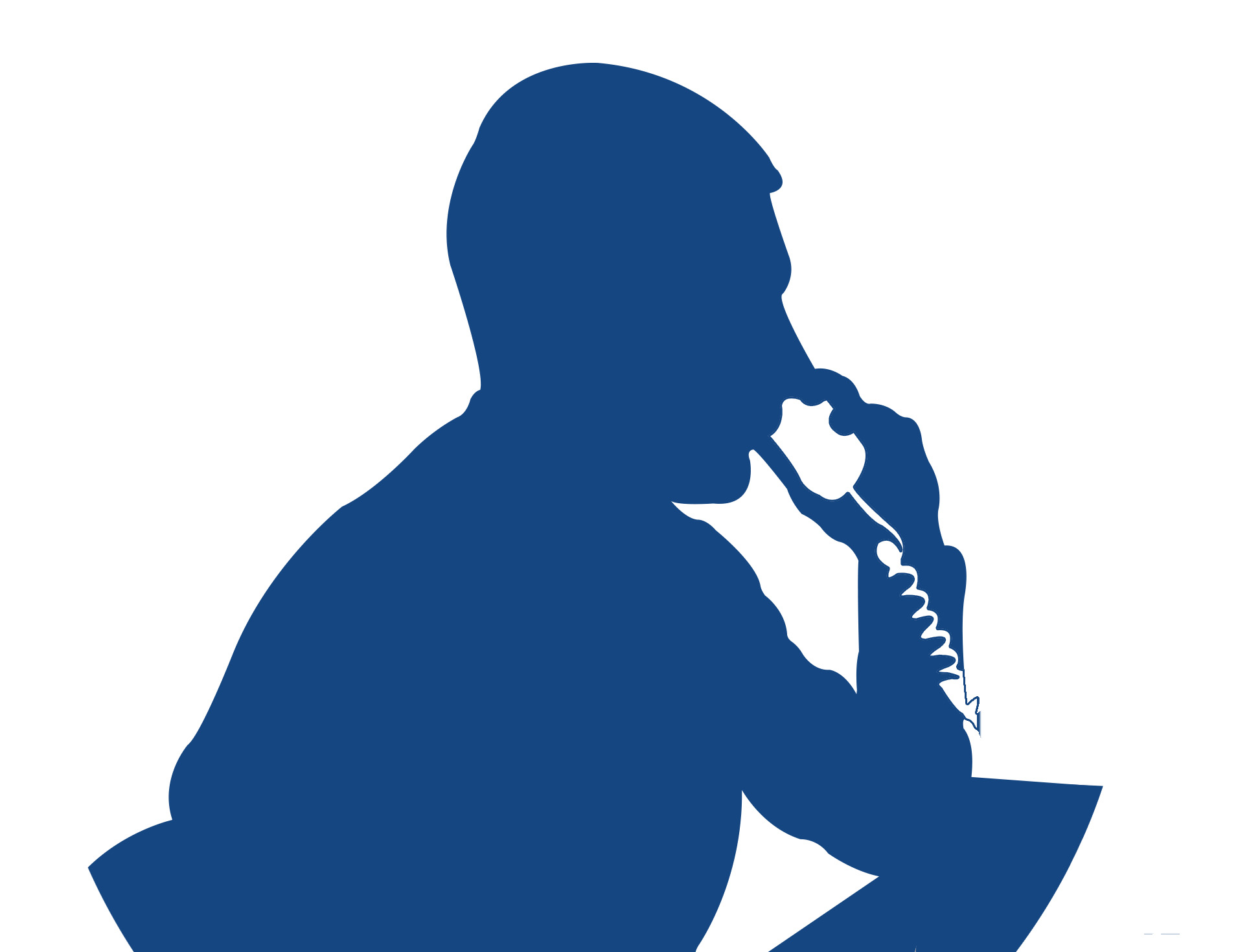 An illustrations of a man on the phone.