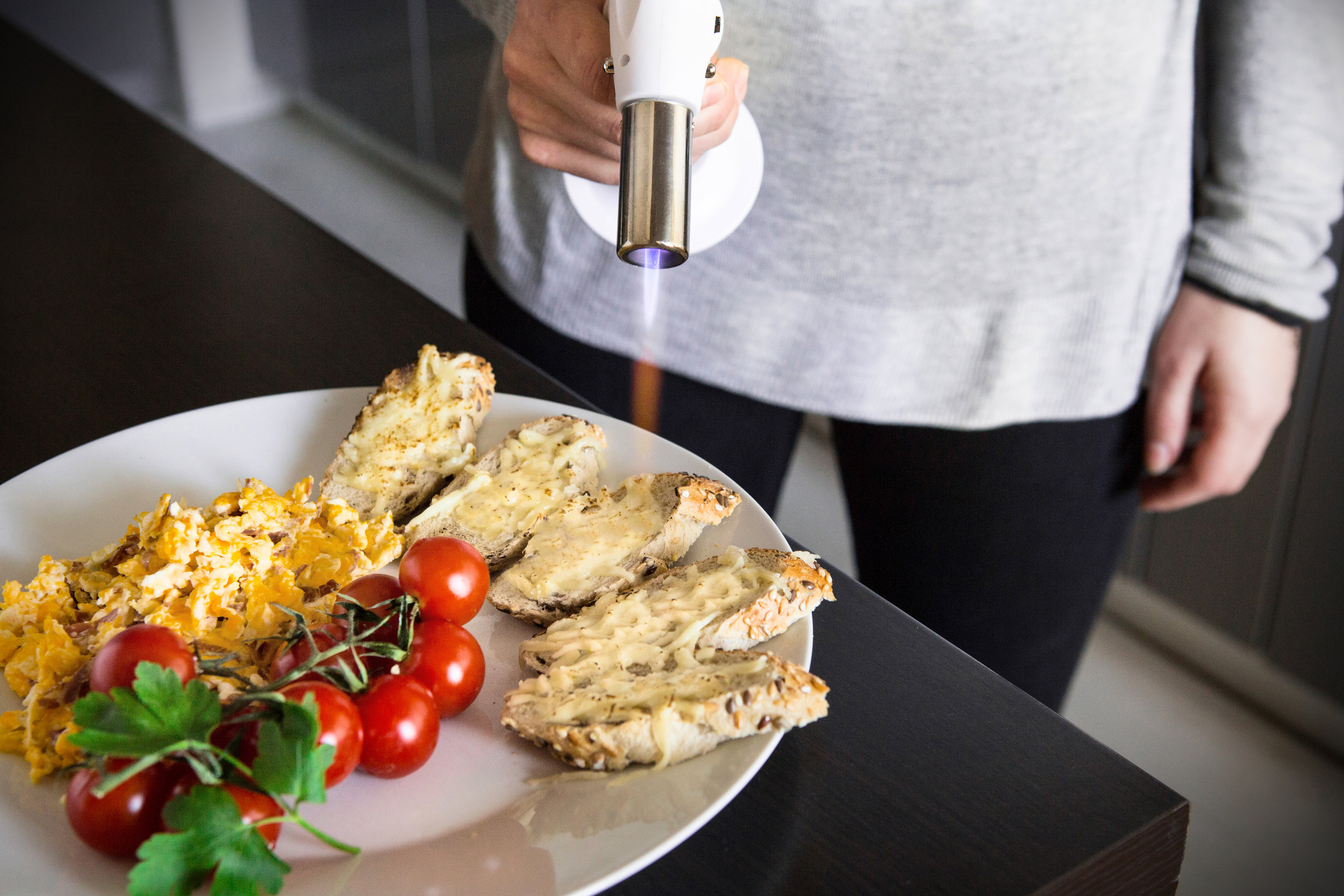 Cooking Kitchen Blow Torch With Safety Lock & Adjustable Flame