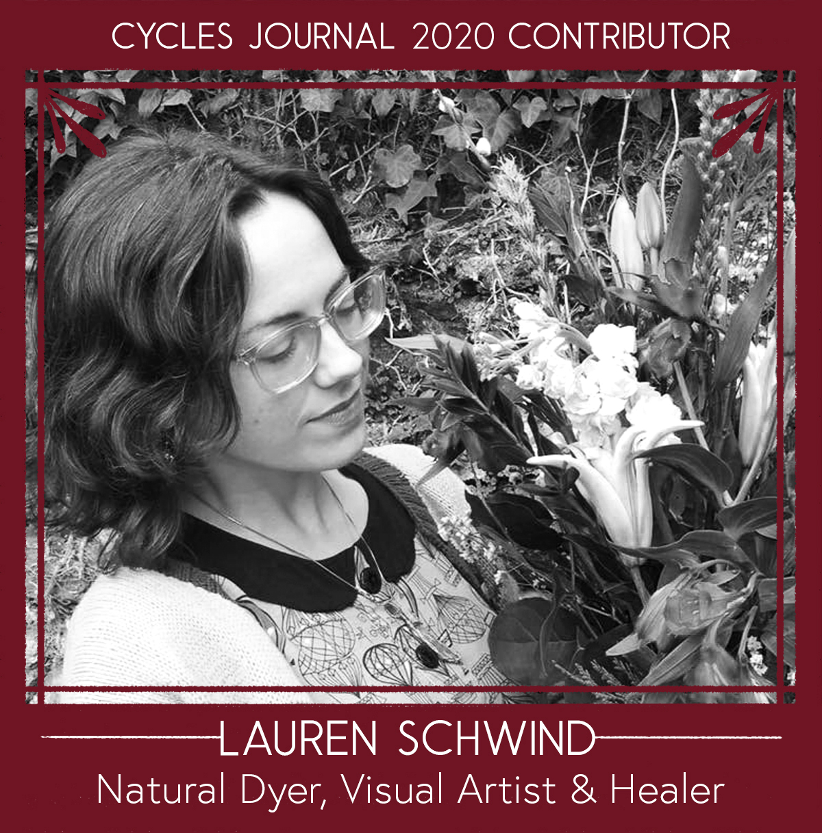 Lauren Schwind - Natural Dyer, Visual Artist & HealerLauren Schwind is an artist living in Philly under the name Subnormalchild. She uses a multitude of magical skills such as drawing, painting, natural dyes while also working as a healer, exploring the modalities of tarot and reiki.Lauren's illustrations explore themes of the divine feminine or the shadow self. Issues of identity, sexuality, connectivity and isolation are depicted with a sense of honesty and reverence with a focus on a central language spoken in arrows and masks. These illustrations take new life as they have been recently transferred into her painting as well as being screen printed onto naturally dyed fabric. As she has explored the divine feminine, Lauren's work has shifted some into using plant-based materials to not just better honor the most sacred feminine (mother earth) but to help further explore the idea of working intuitively with her.Social: @subnormalchildEmail: lauren.n.schwind (@) gmail.comWebsite: www.laurenschwind.com