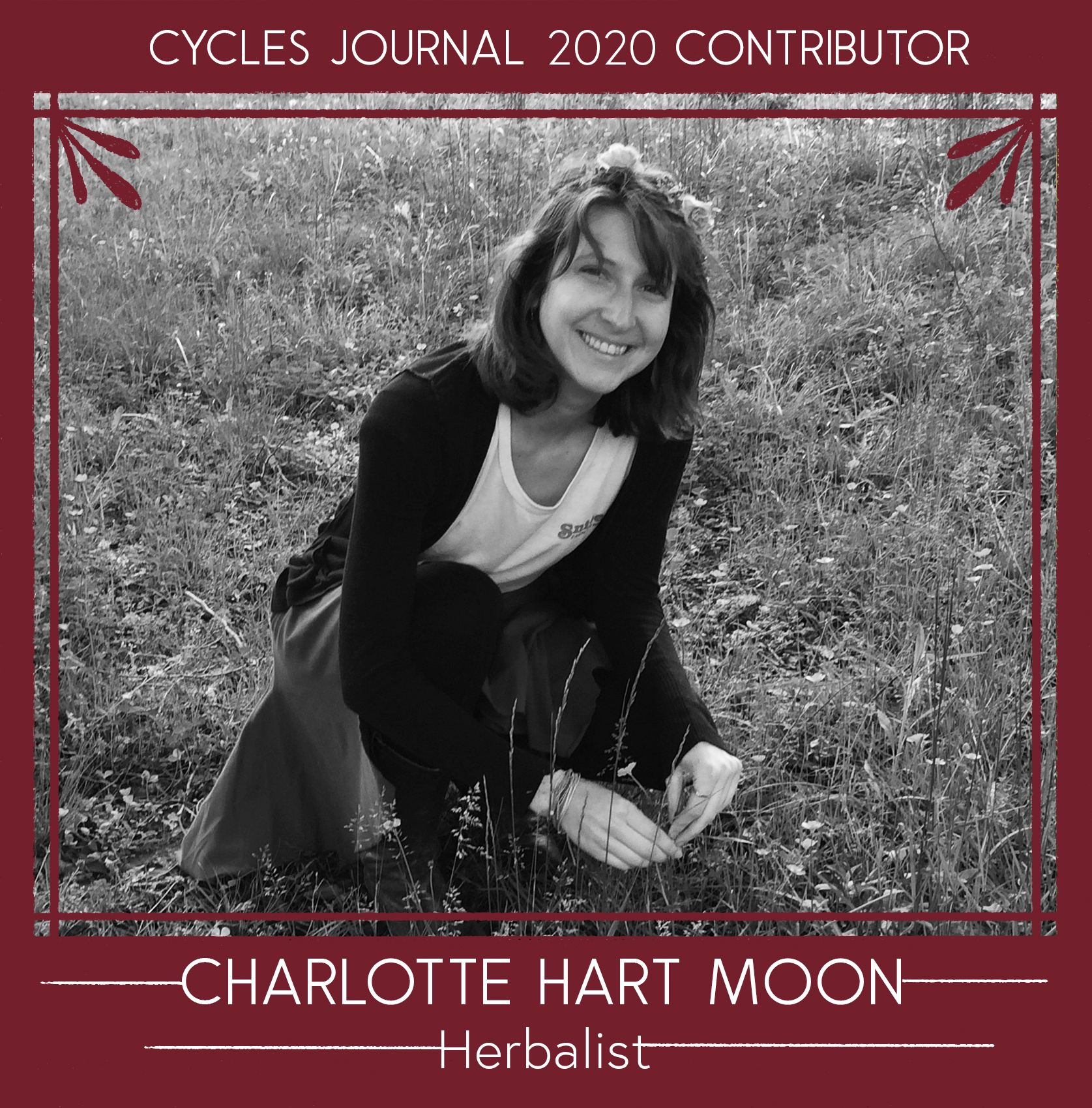 Charlotte Hart Moon - HerbalistCharlotte Snipes-Wells began her herbal journey at the Wildflower School of Botanical Medicine, in Austin Texas. In 2018, Charlotte studied under both 7Song at The Northeast School of Botanical Medicine - intensive program, and Tammi Sweet & Kris Miller at Heartstone Center for Earth Essentials. In 2019 she continued learning under Kenton Cobb's Grassroots Herbalism Intensive Program. Taking these courses gained her a comprehensive understanding of herbal medicine in clinical, spiritual, activist and community centered approaches. Currently, Charlotte is a community clinical herbalist, and is learning to grow a medicine garden.Instagram @heart.of.the.moon.herbsEmail: heartofthemoonherbs (@) gmail.com