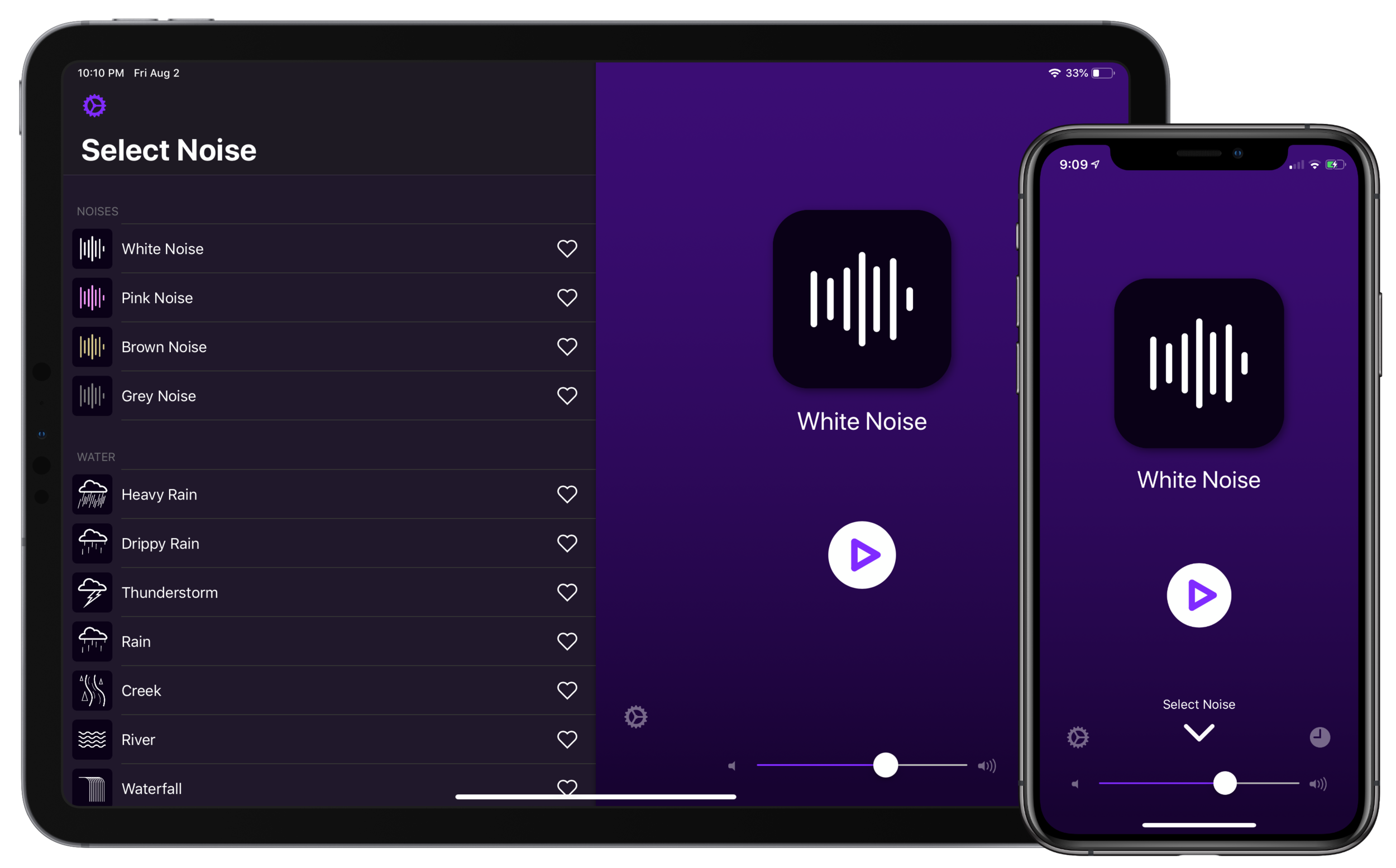 Dark Noise for iPad and iPhone
