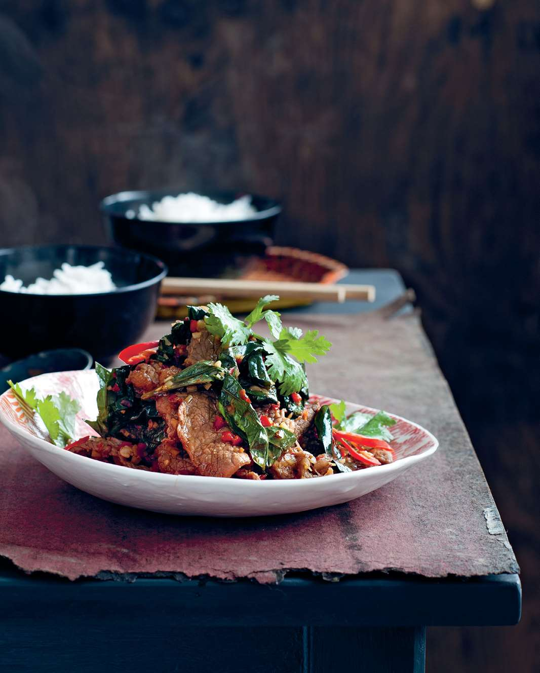 Beef tossed with wild betel leaf and lemongrass.jpg