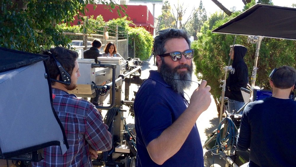 "On the set of ""Shot,"" Directed by Jeremy Kagan. Photo by Josh Siegel. - It's crazy but here I am, living the dream."