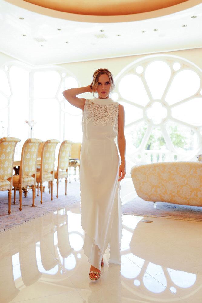 Bespoke italian silk four ply crepe sleeveless vintage dress.jpg
