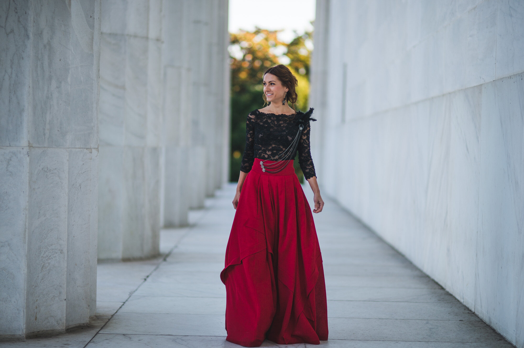 bespoke couture two piece ball gown at Washington Monument designed by Lana Gerimovich with Alis Fashion Design in photographed by Montas Photography.jpg