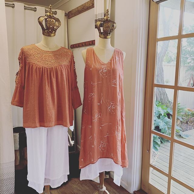 So pretty!! Today's new arrivals.. x  #threetimesblest #buninyong #visitballarat #ballarat #springfashion #womensfashion #bohostyle #dress #crochet #beachpants