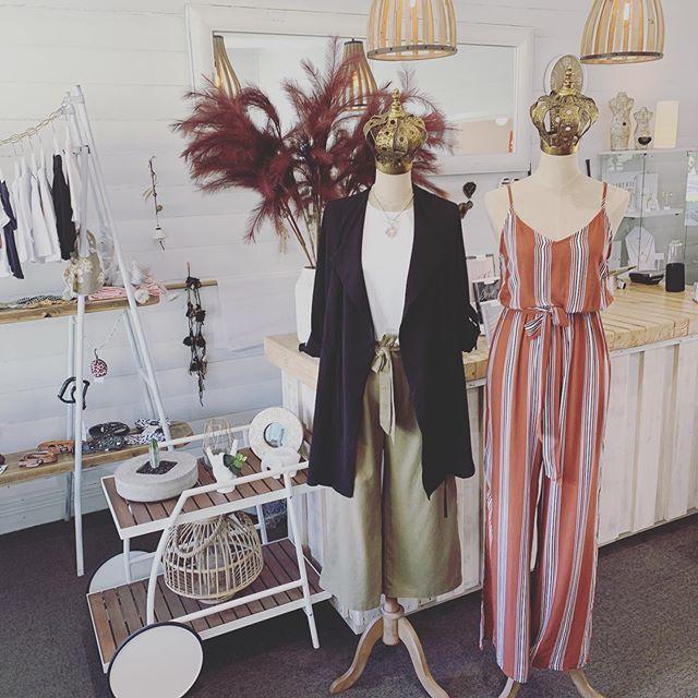 Just a few of our new arrivals.. All online now! x #threetimesblest #buninyong #visitballarat #ballarat #onlineshopping #womensfashion #linenpants #jumpsuit #jewellery #spring