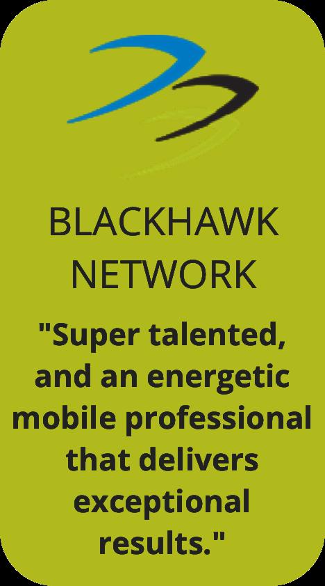 Blackhawk Network Testimonial