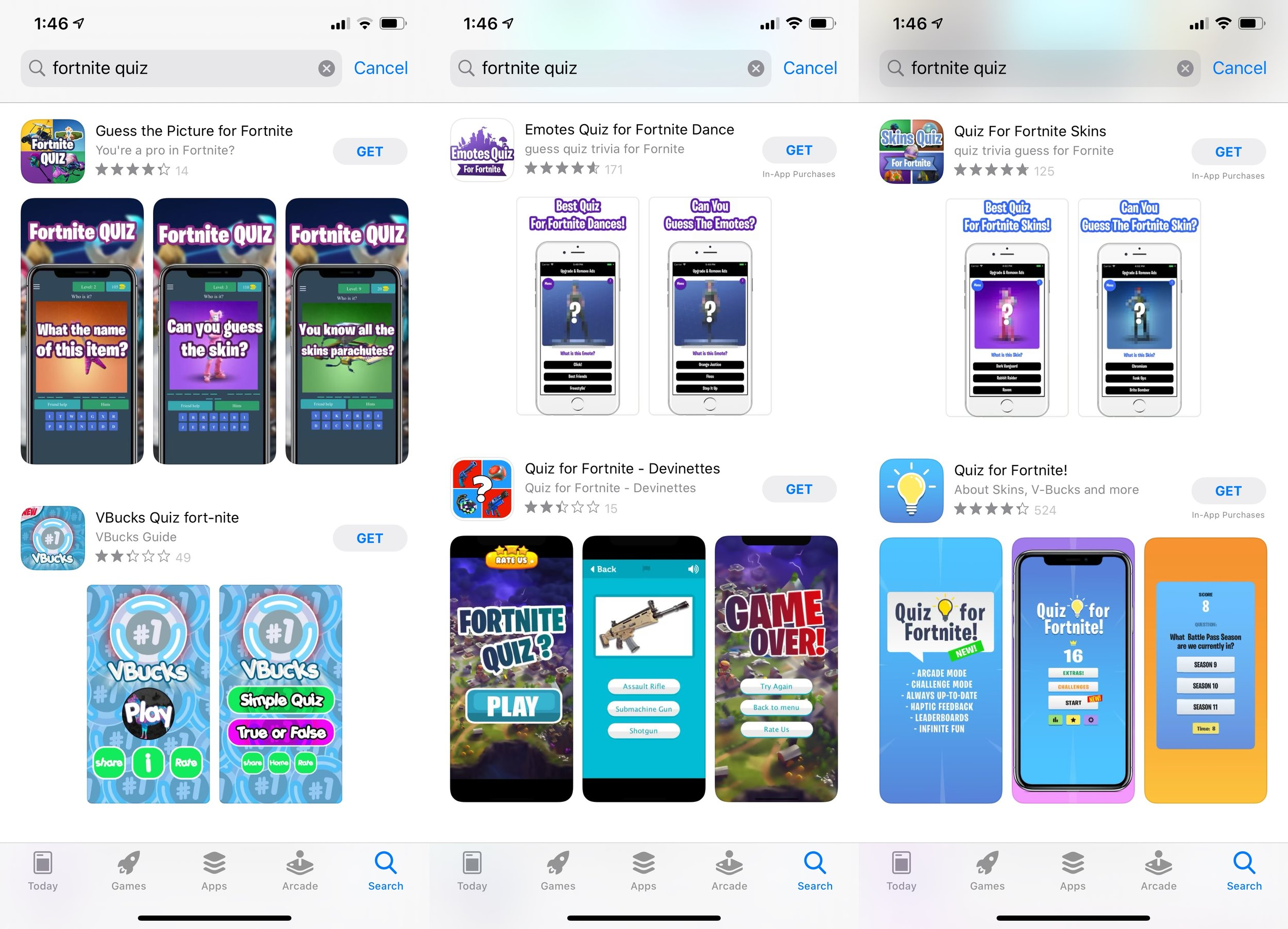 Fortnite Quiz App Store Search