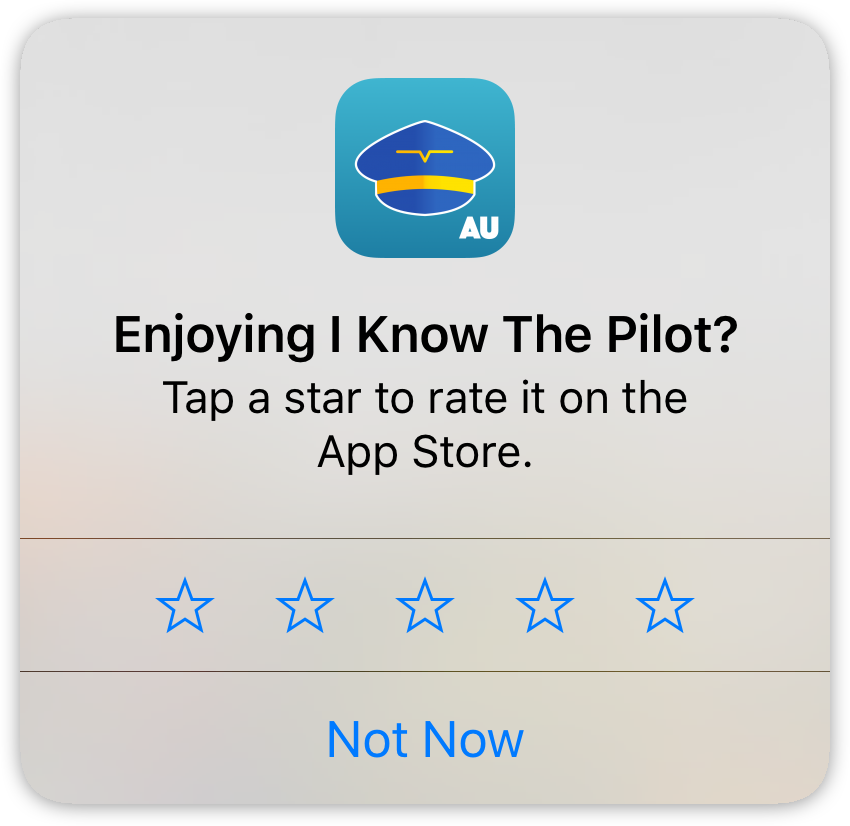 iOS StoreKit app rating popup