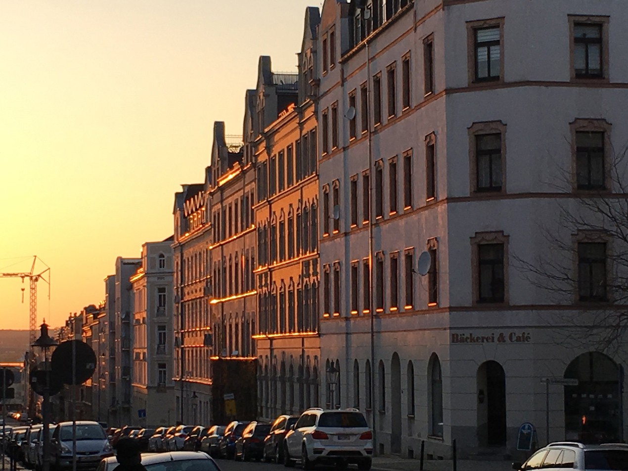 Die Gießerstraße Richtung Innenstadt