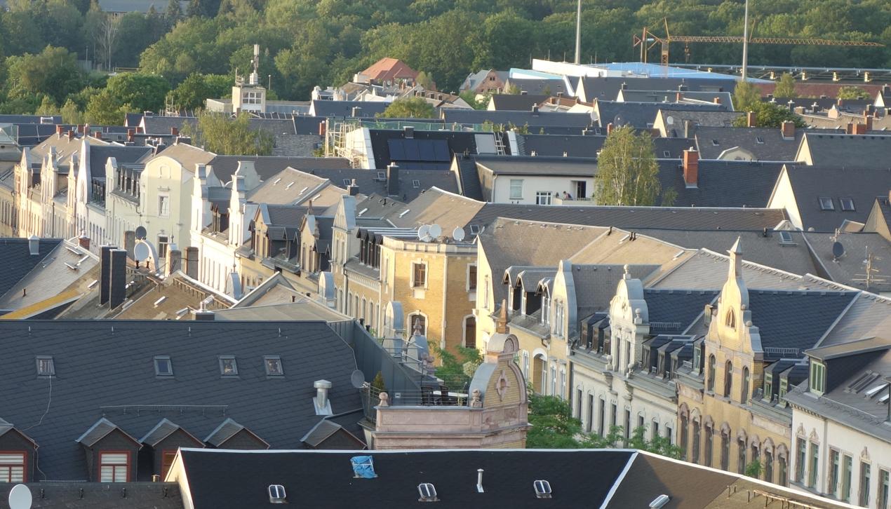 Blick vom Turm der Markuskirche