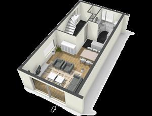 A1 - 1 bedroom | 1 bathroom750 sq. ft.