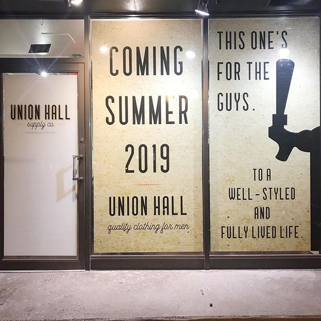Opening day draws closer 📆 follow our stories for a behind the scenes peek at the progress 📐🔧🔨⚙️ #unionhall #oldsaratogarestorations #saratogasprings