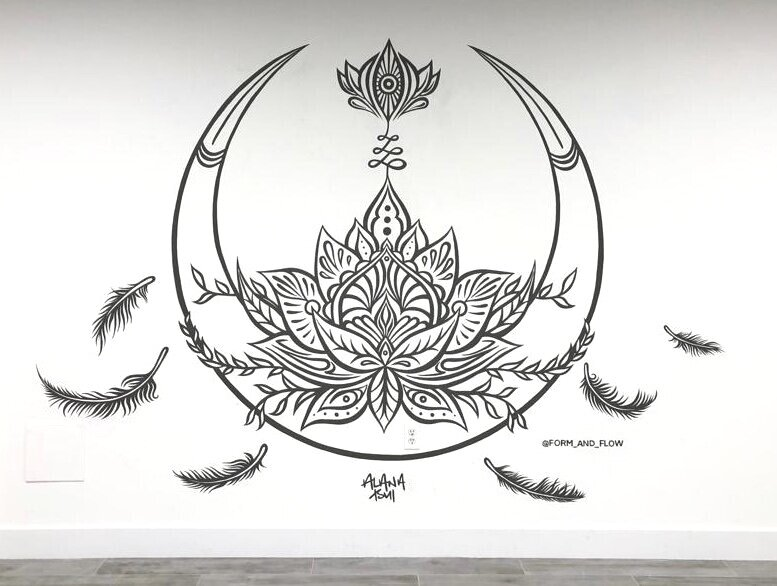 Art Murals By New Zealand Artist Alana Tsui Form Flow