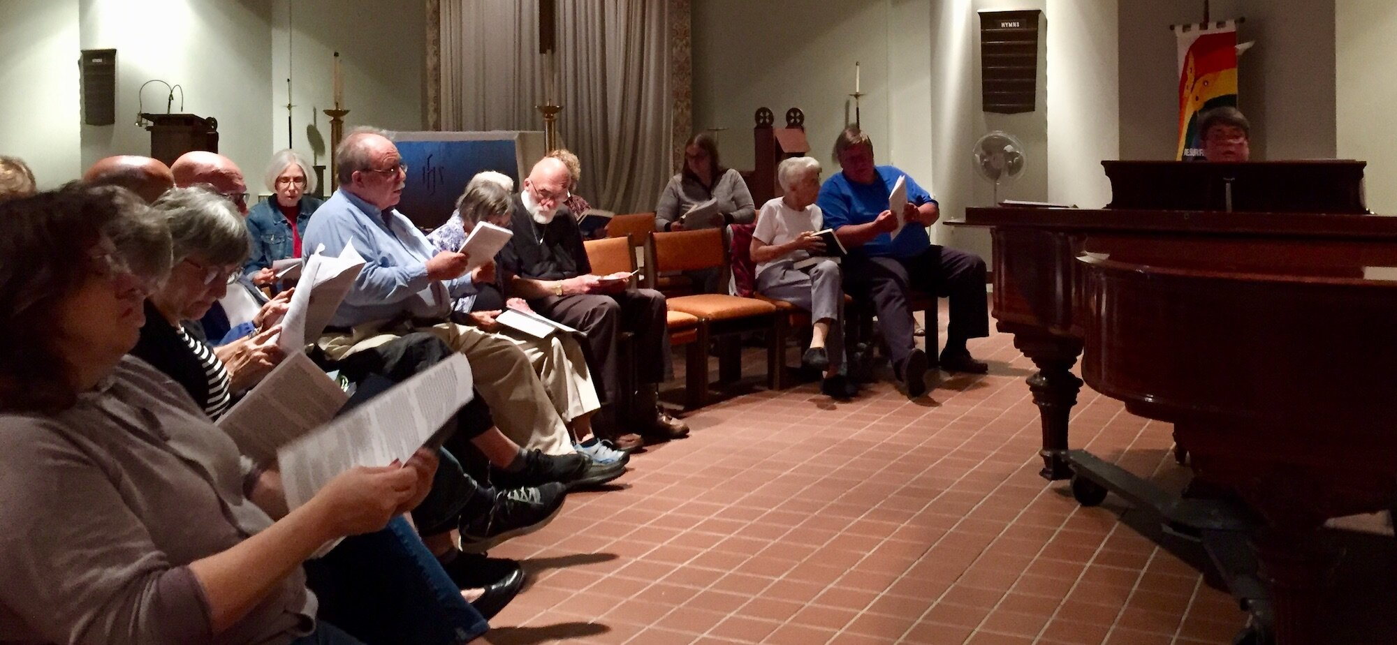 Hymn Sing with Nancy Radloff at the piano