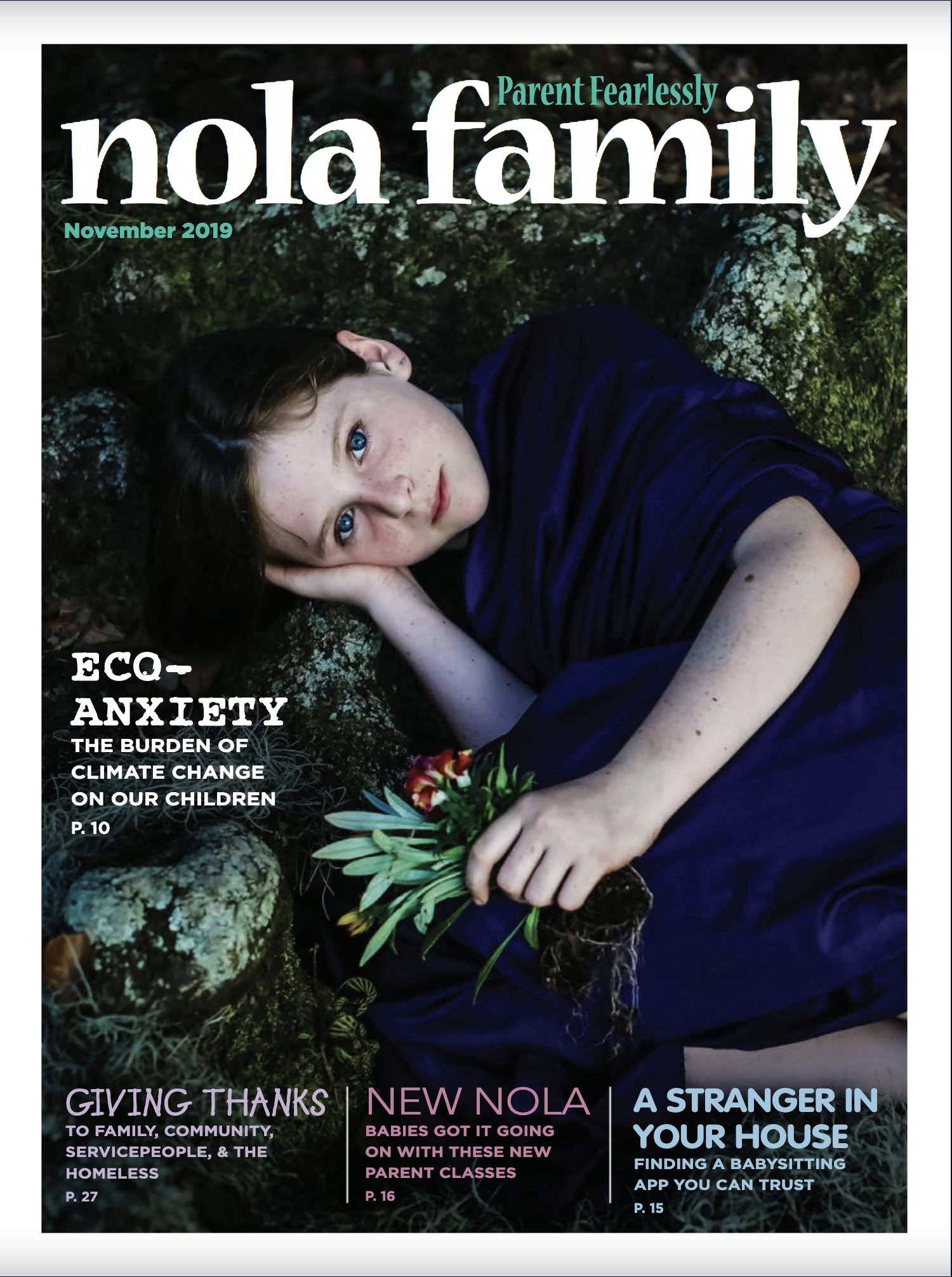 NOLA Family Magazine - Dr. Lawing discussed the impact of climate change on mental health and how her treatment techniques can help those with eco-anxiety.https://issuu.com/fleurdelispublishing/docs/nolafamily_november2019?fr=sZDNiNDQ1OTMyNg