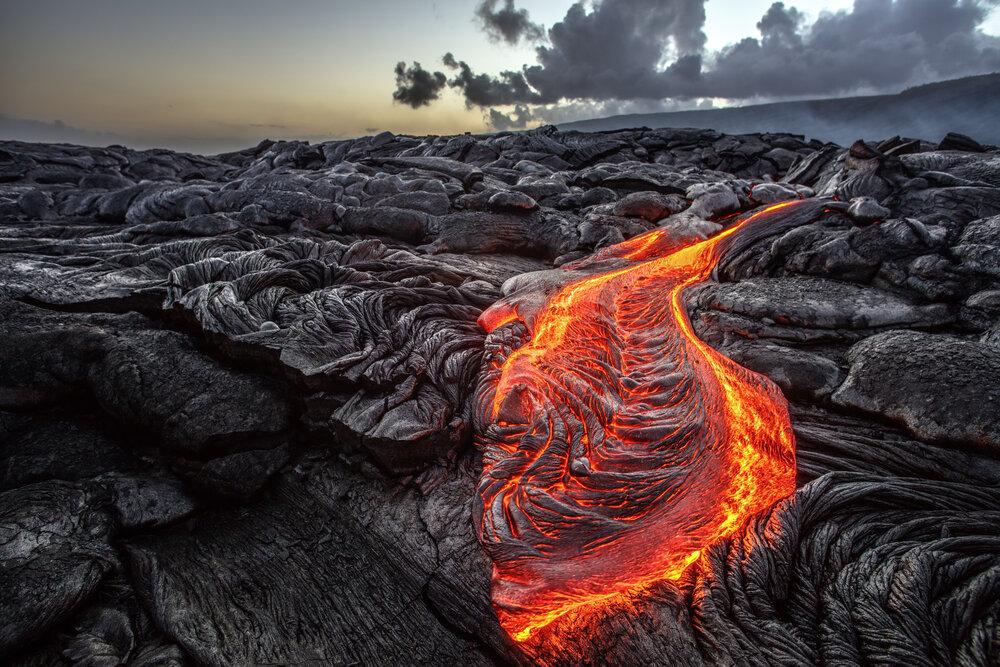 Lava Flows On The Island