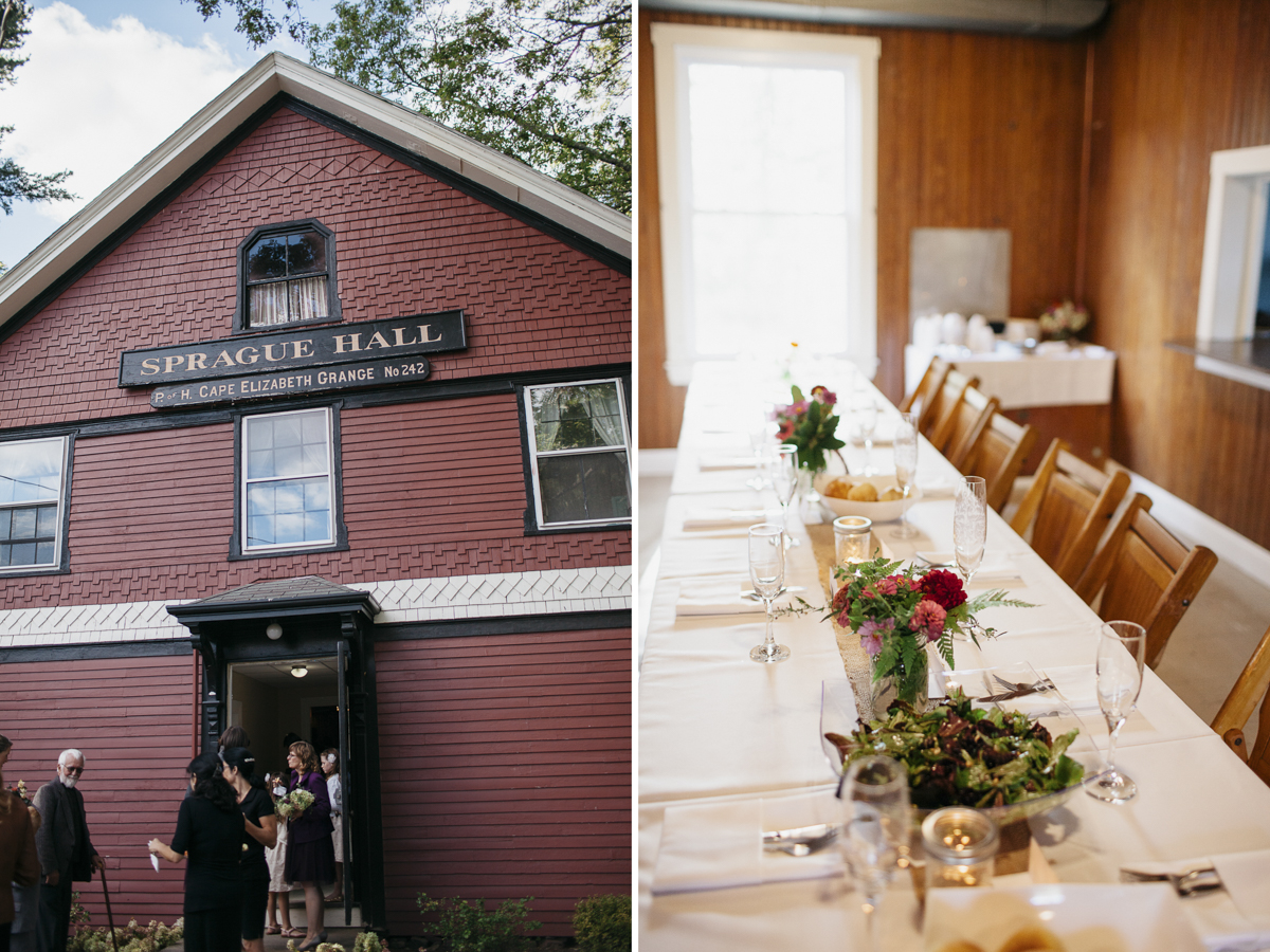 SPRAGUE HALL - Sprague Hall at Ram Island Farm is an authentic meetinghouse with all the features you would expect of a classic grange hall.