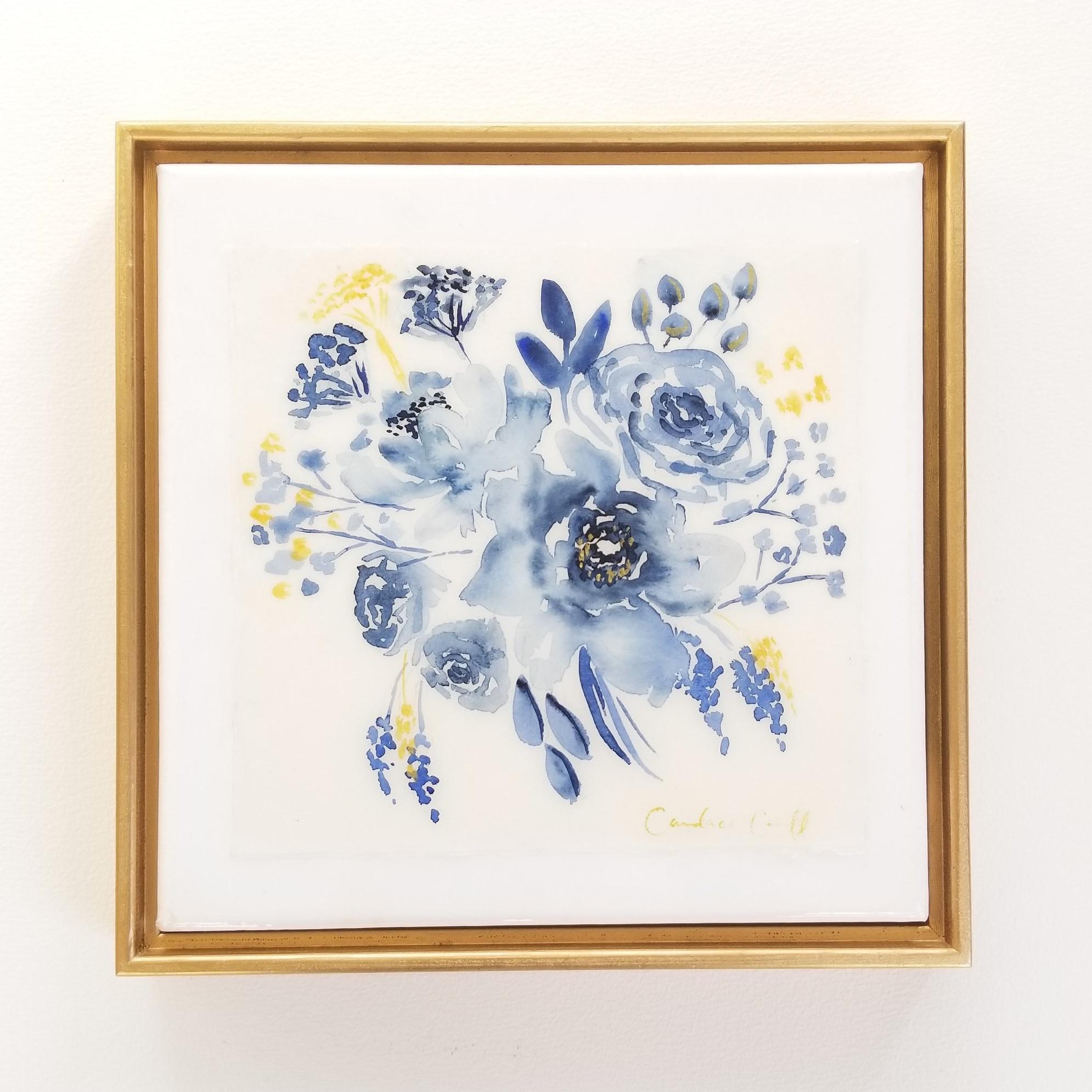 Indigo floral - SOLD
