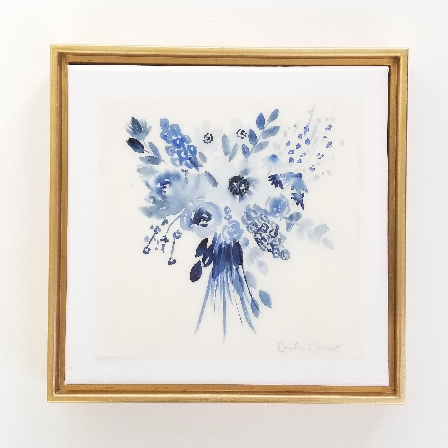 Bouquet in blue - SOLD