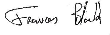 Frances Black signature
