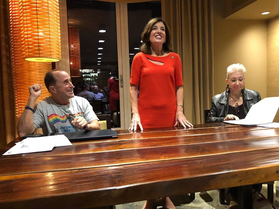 New York State Lieutenant Governor Kathy Hochul speaking at Jim Owles Liberal Democratic Club Meeting on Tuesday, October 9th