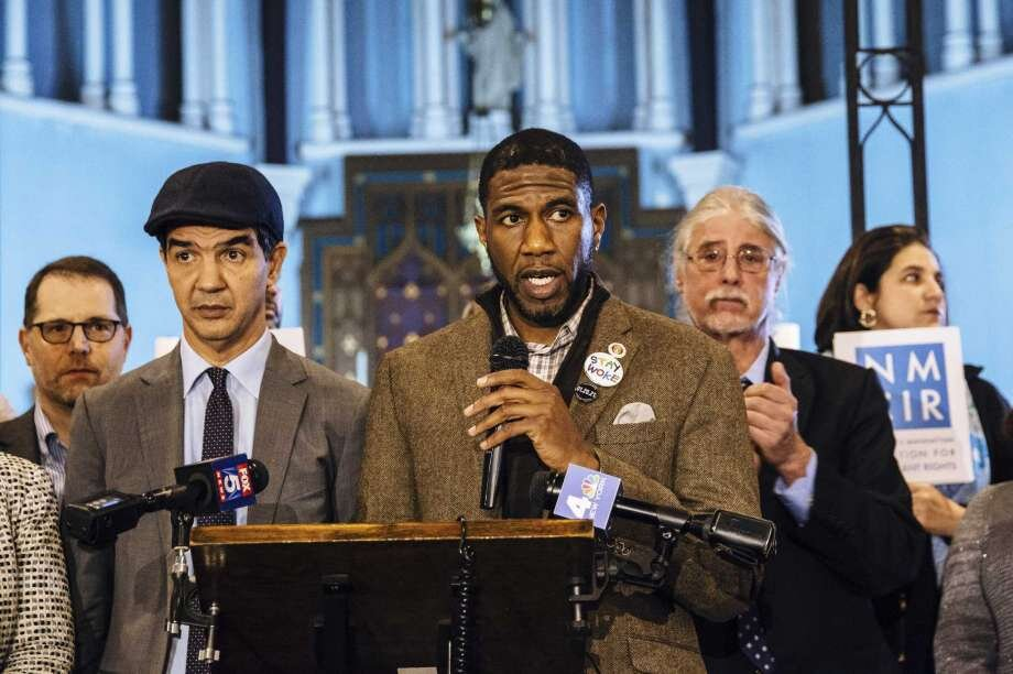 Photo: MICHAEL M. SANTIAGO, New York Times  Jumaane Williams, a newly elected Brooklyn councilman, speaks at a community rally for immigrant and human rights, at Holyrood Episcopal Church in New York, Jan. 17, 2018. Williams, who describes himself as an activist-elected official, is planning to travel the state in the coming weeks to test the waters for a lieutenant governor run.