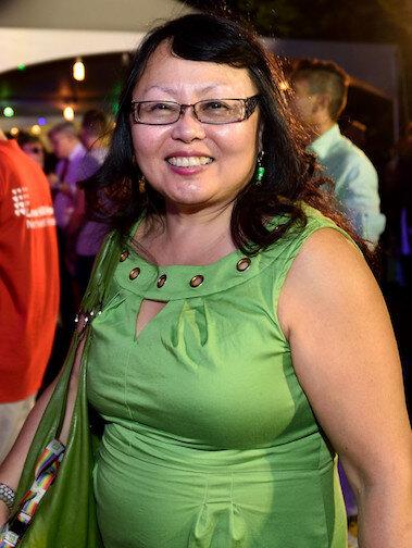 Justice Doris Ling-Cohan at June's LGBT Community Center Garden Party. | DONNA ACETO
