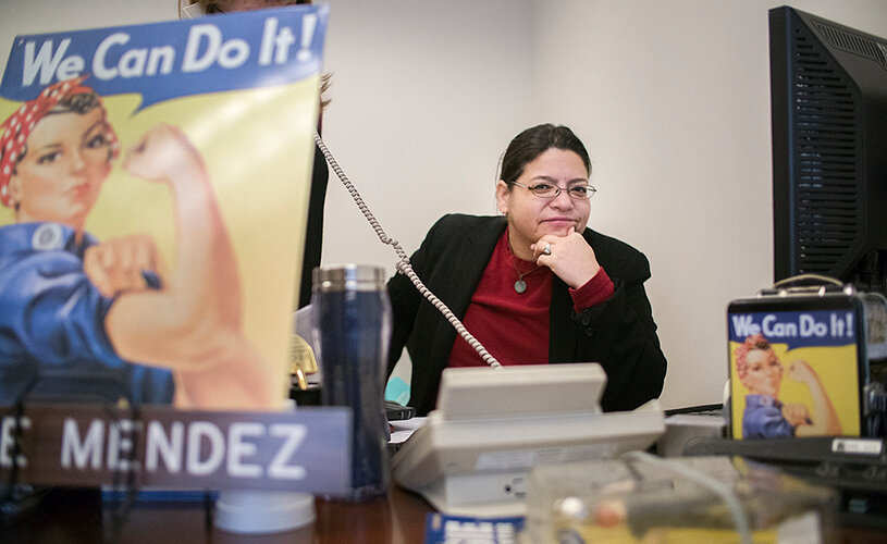 Councilwoman Rosie Mendez in her City Hall office. (William Alatriste / New York City Council)