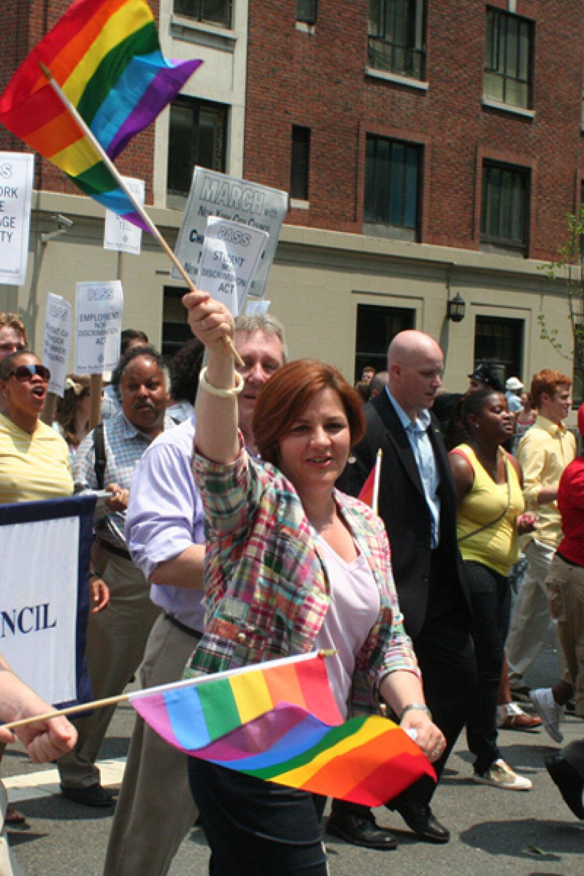Christine Quinn, positioning herself to run for mayor. | bosstweed via flickr