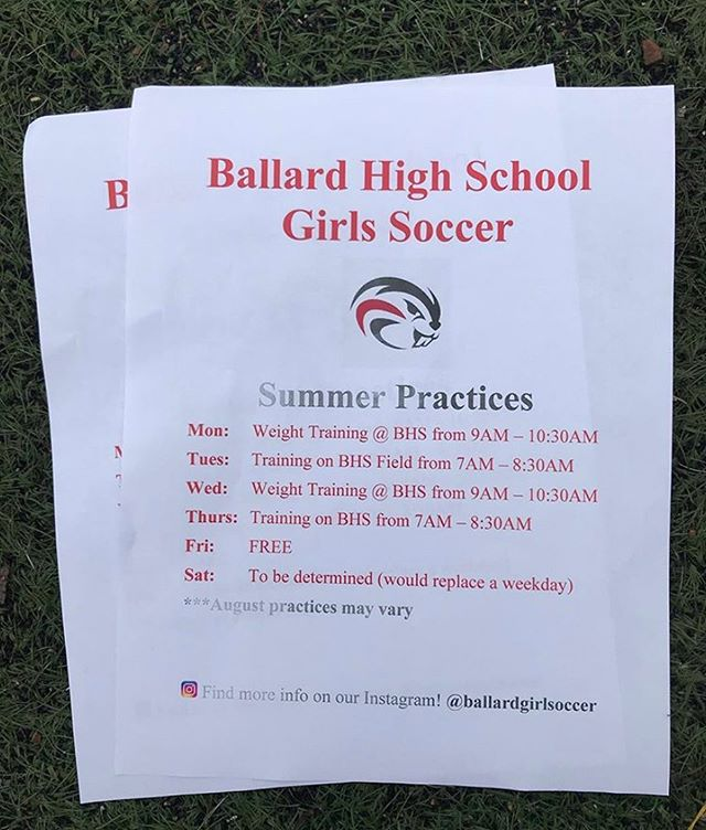 Beaver Nation Friends, Fans & Families, Do you know an incoming freshman interested in girls soccer or returning players? Please pass along the following info @ballardgirlsoccer  Contact Coach Sam Maccarrone  snmacca@gmail.com