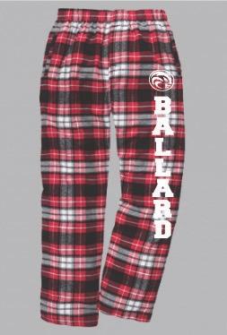 Red/Gray Plaid Pants