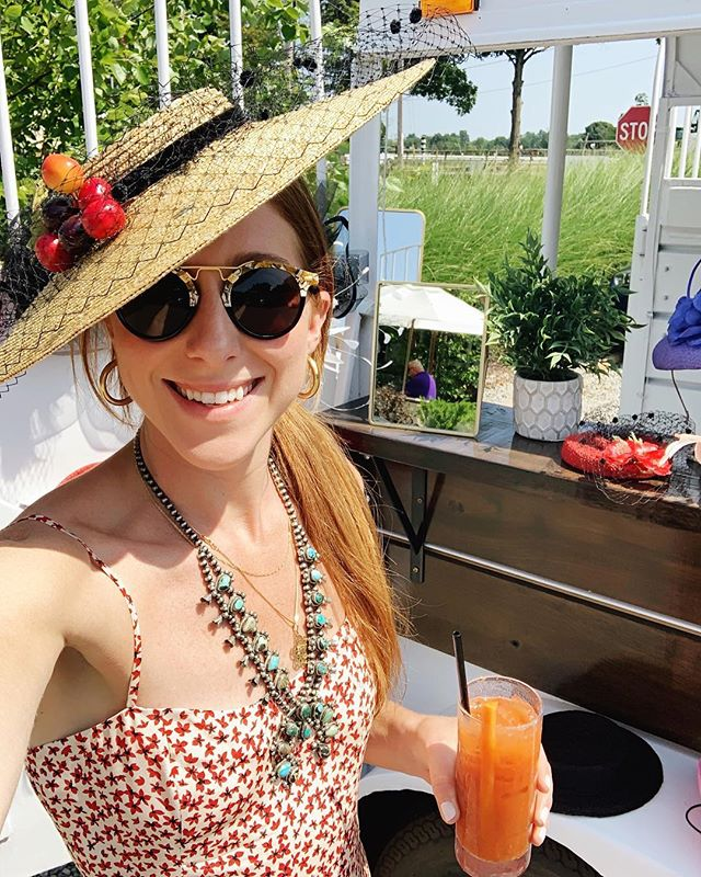 Best bloodies in town and hats for days! Come find us at the Brentwood til 1p!  #saratoga #saratogaliving #saratogasprings #saratogaracetrack