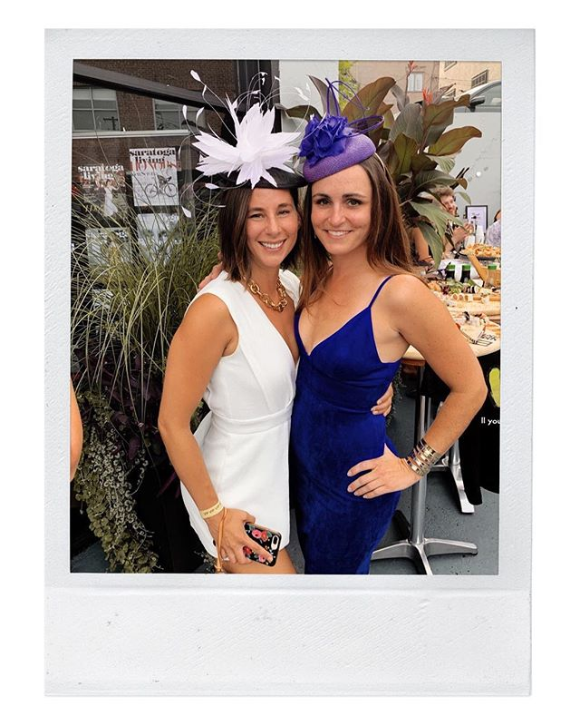 Beauties in Lady Luck 🌹 Find us at The Brentwood today til 1p and let us hat you for your track day!  #ladyluckhats #sartogasprings #saratogaracetrack