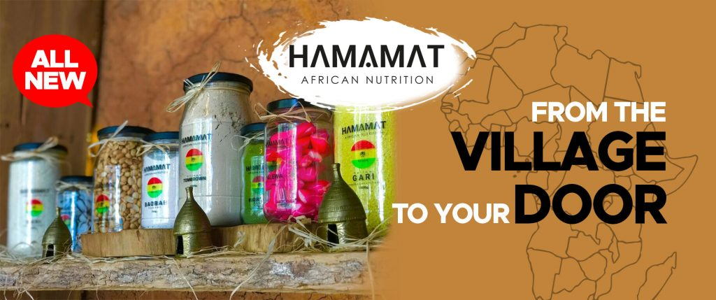 hi there #KingsandQueens :  Back in the day our grandfathers idea of fast food was nutritious food that could give you instant energy and could go traveling on horseback for a very long time . In simple words , HEALING foods .  Natural , Virgin & Unadulterated foods locally grown and harvested by small village farmers across Africa.  Hamamat African Nutrition takes you on a journey of how our ancestors who had a rich deep connection with the EARTH cared for their  HEALTH , BODY AND SOUL  by using ingredients provided to them by their natural environment . Our Hamamat basket gives you a healthy dose of seasonal African super foods that will boost your metabolism and keep your body and soul elevated .  1. Moringa Powder  2. Tombrown  3.Baobab powder  4.Mango leaves and so much more .