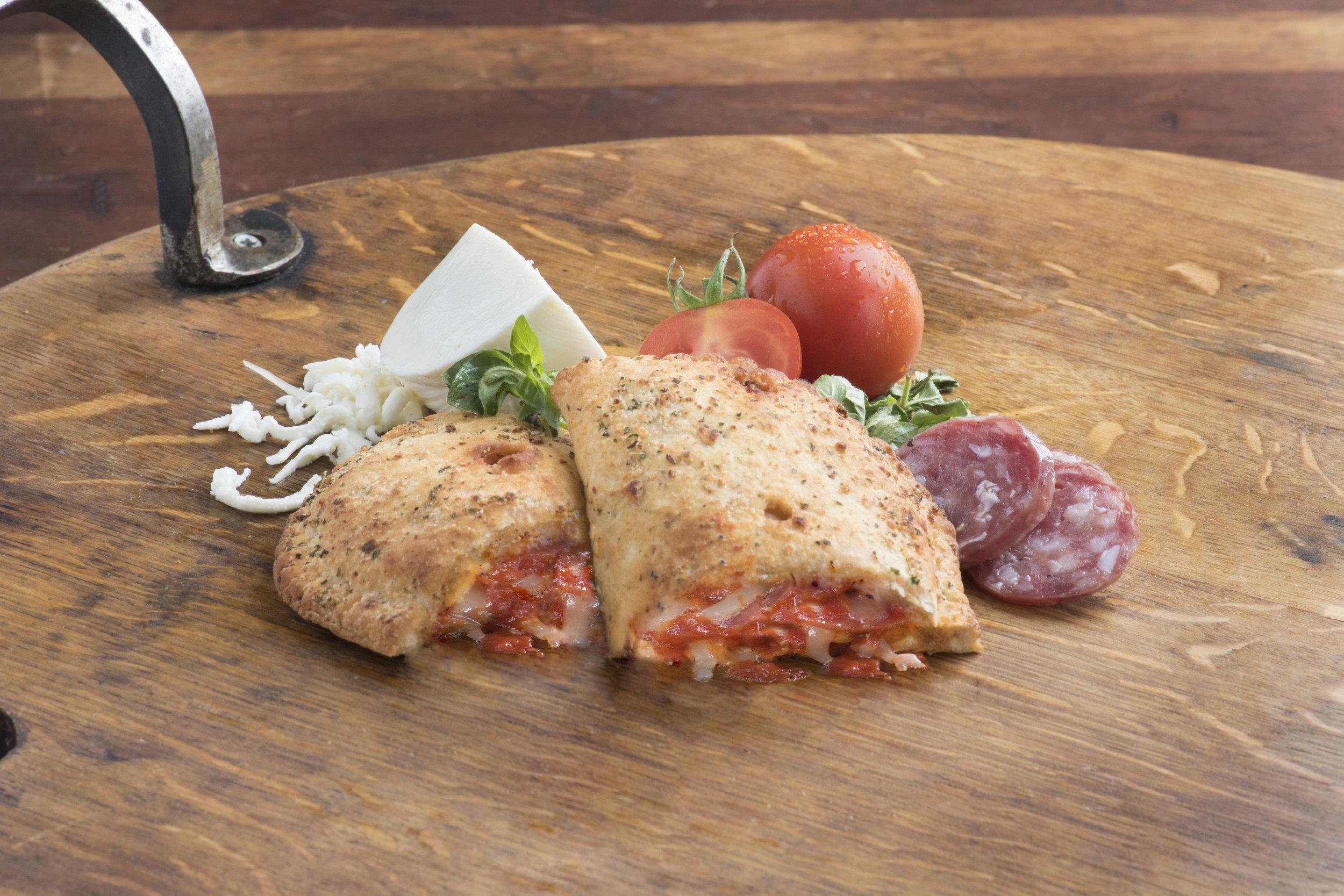 Split Top Pepperoni Flavored Calzone
