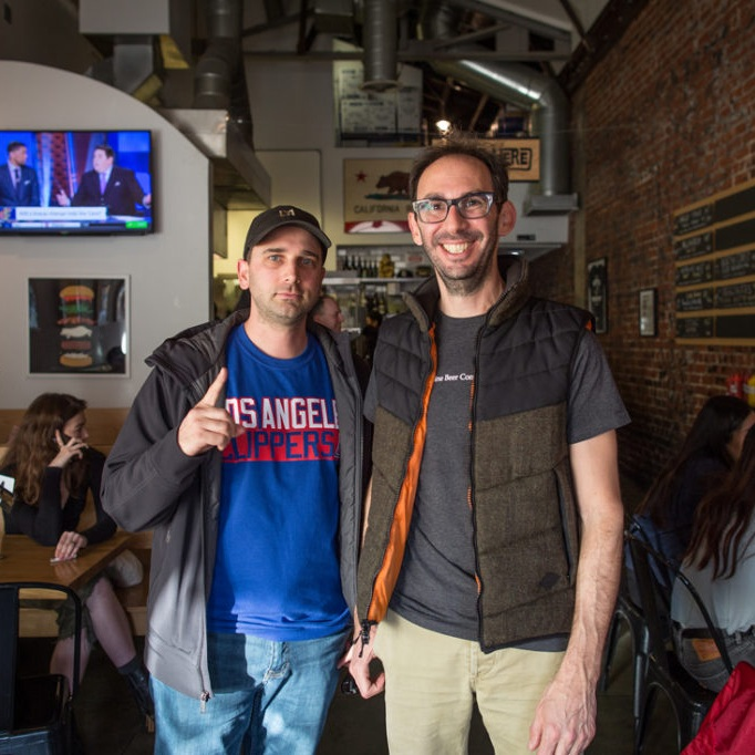 Photo of JASON BERNSTEIN & JAMES STARR  owners of COFAX