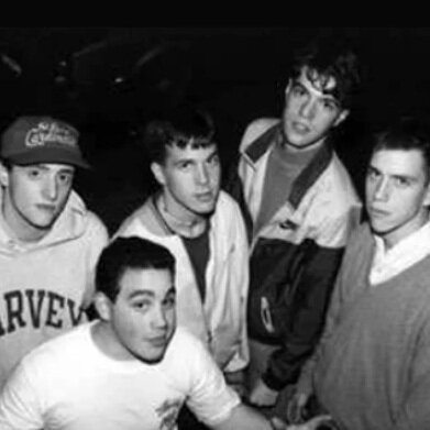 Photograph of the 5 members of and Gorilla Biscuits