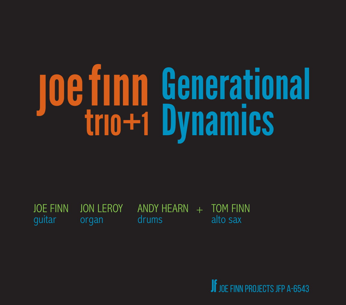 2019 generational quartet featuring Tom Finn on alto sax. - Tracks include Groove Merchant, Mo' Better Blues, Embraceable You, Segment and more. Two generations of Finn-tastic sounds.