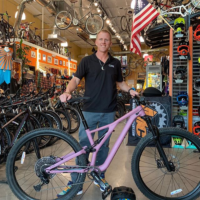 Happy New Bike Day, Mike!! You're going to love the versatility of that new Stumpjumper ST. And for the price, there's no better value!! #allmountaincyclery #bootlegcanyon #iamspecialized #stumpjumperst #fun #value #sendit #lasvegas #bouldercity #supportlocal #shoplocal #buylocal #bike #newbikeday