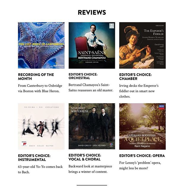 An early Christmas gift for us! ⠀ We're happy to say that The Emperor's Fiddler has been named Editor's Choice in the chamber music category in the December 2018 issue of @limelightmagazine!⠀ .⠀ .⠀ #earlymusic #chambermusic #baroque #baroquemusic #limelightmagazine #editorschoice #baroqueviolin #violin #classicalmusic