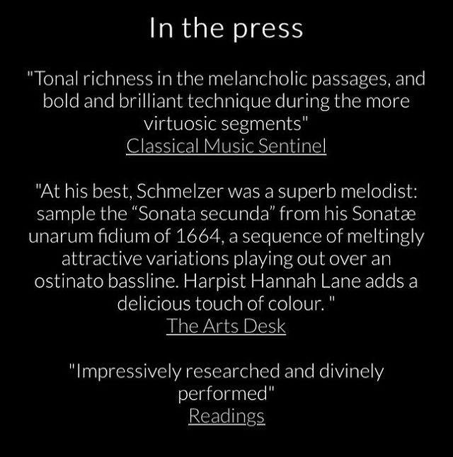 Some fantastic first reviews for The Emperor's Fiddler: Johann Heinrich Schmelzer! . . #earlymusic #baroquemusic #baroqueviolin #reviews #inthepress #classicalmusic #outnow