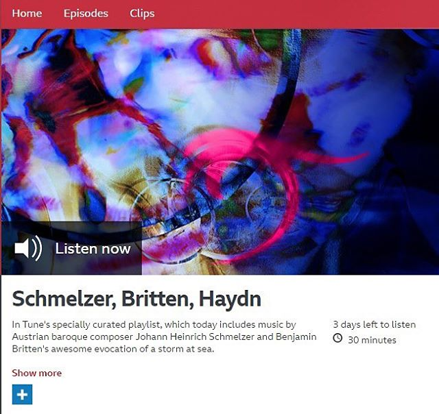 We were thrilled to hear a track from The Emperor's Fiddler: Johann Heinrich Schmelzer on @BBCRadio3's In Tune mix recently! ⠀ Only a few days left to listen, so search for it on the BBC Radio 3 website now!⠀ .⠀ .⠀ #BBCRadio3 #earlymusic #baroque #baroquemusic #baroqueviolin #violin #obsidianrecords