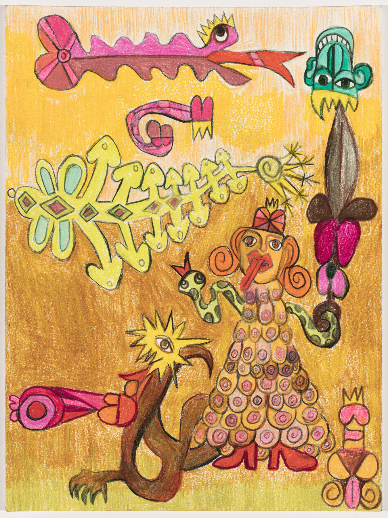 "Ms. Judy Artemissy (2019) Watercolor pencil on paper, 12x9"""