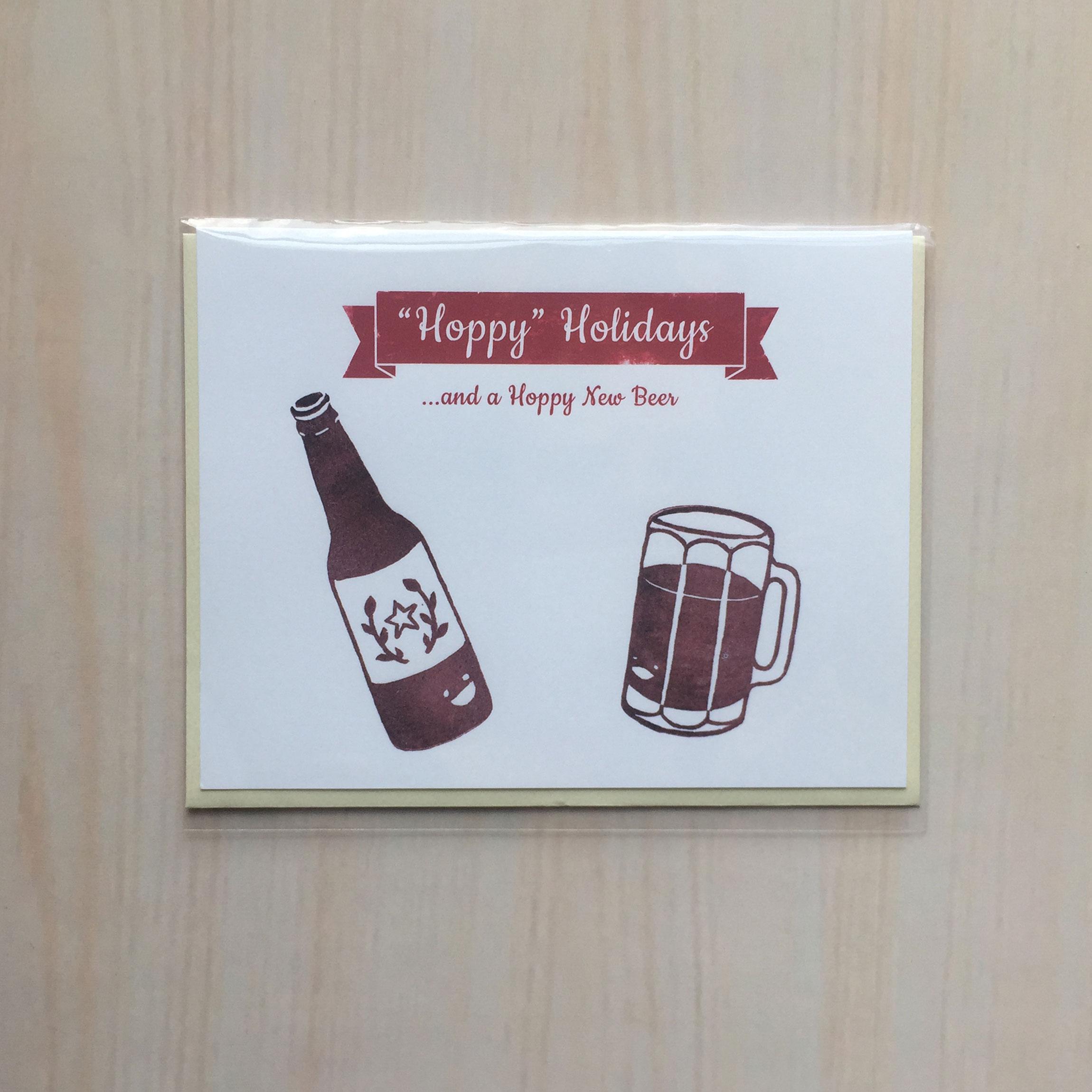 """Hoppy Holidays   Size: 4""""x5"""" Printing: digital Inside: blank Envelope: felt ivory"""