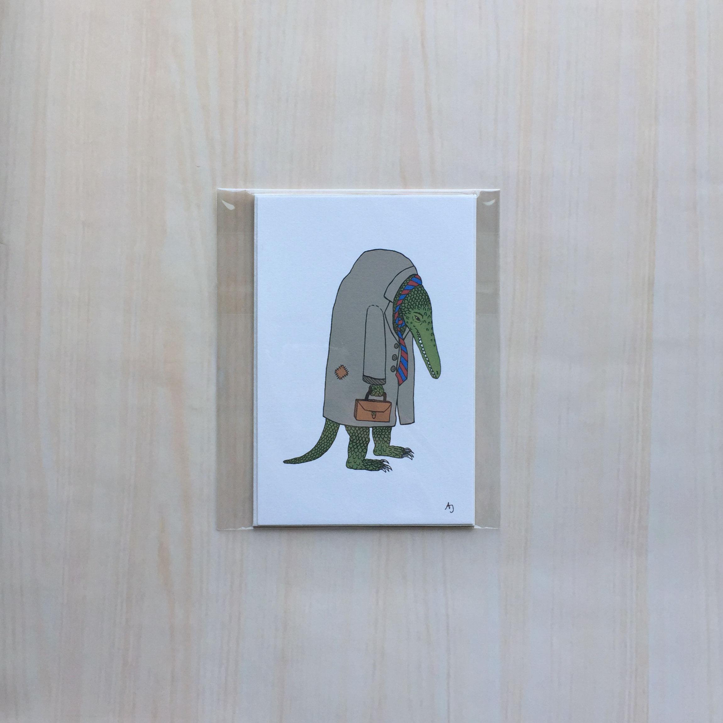 "The Salaryman   Size: 5""x7"" Printing: digital Paper: bristol Original Medium: ink & digital Editions: open"