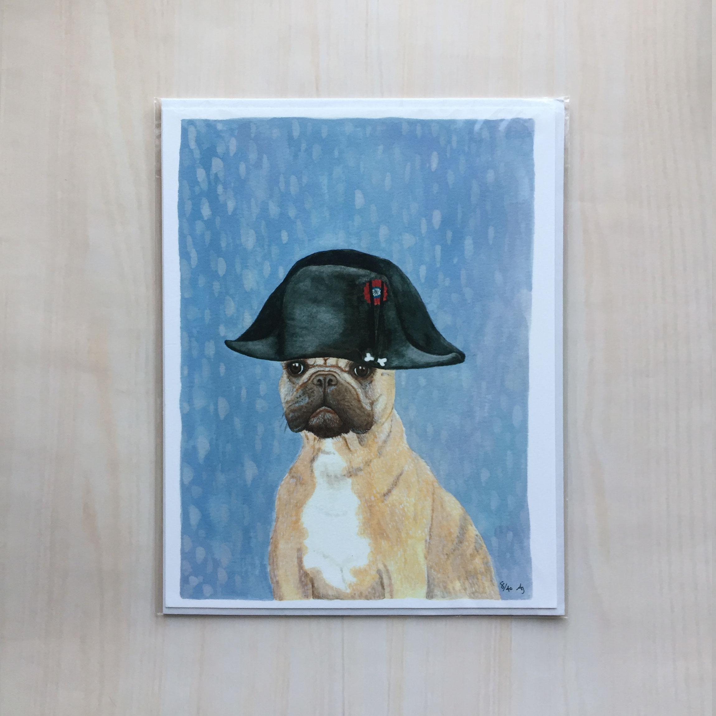 "Napoleon ""Bone"" Apart   Size: 8.5""x11"" Printing: digital Paper: velvet Original Medium: gouache Editions: limited to 40"