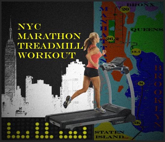 NYC Marathon Treadmill Workout